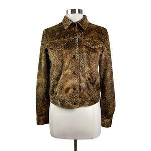 Jones New York Sport Vegan Fur Leopard Jacket